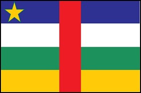 4'x6' Central African Republic Flag