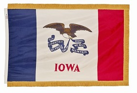 3'x5' Iowa Indoor Flag