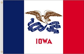 8'x12' Iowa Nylon Flag