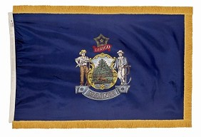 3'x5' Maine Indoor Flag