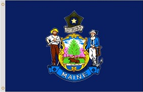 8'x12' Maine Nylon Flag