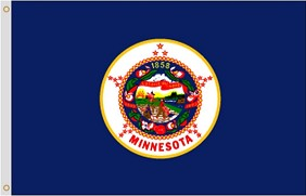 5'x8' Minnesota Nylon Flag