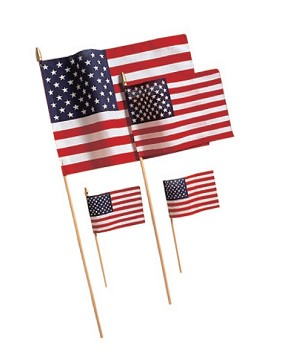 "12""x18"" US Cotton Stick Flag"