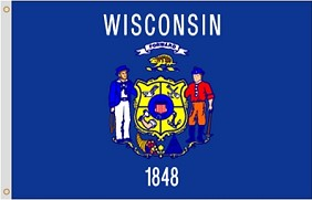 3'x5' Wisconsin Nylon Flag